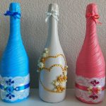 décor volumétrique de champagne