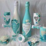 décoration de bouteilles de champagne pour mariage