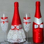 décoration de bouteilles de champagne pour les options de mariage