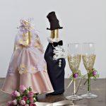 décoration de bouteilles de champagne pour une idée de mariage options