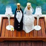 décoration de bouteilles de champagne pour un mariage photo idées
