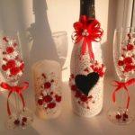 décoration de bouteilles de champagne pour options de mariage