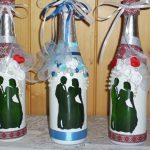 décorer des bouteilles de champagne pour la conception des idées de mariage