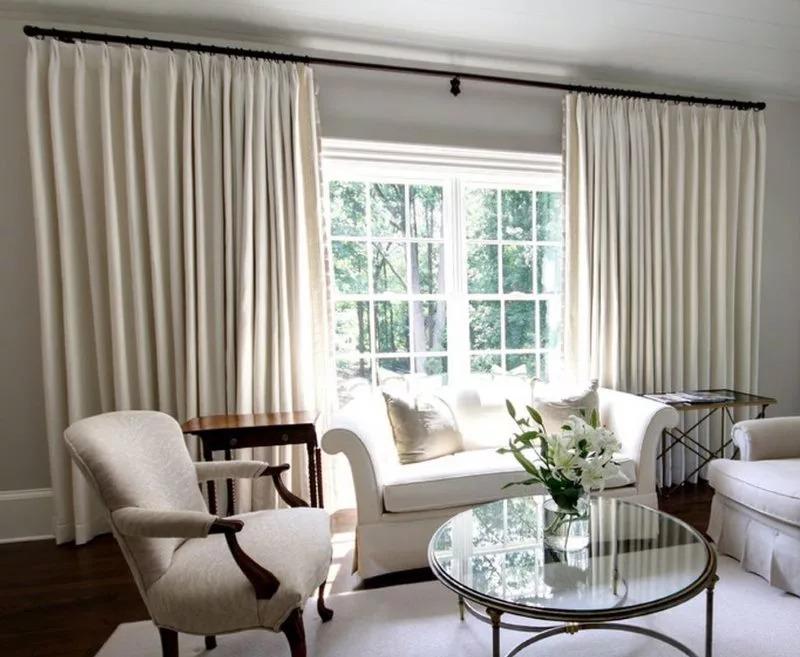 deux rideaux rideaux