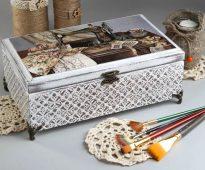 boîte à bijoux faite maison