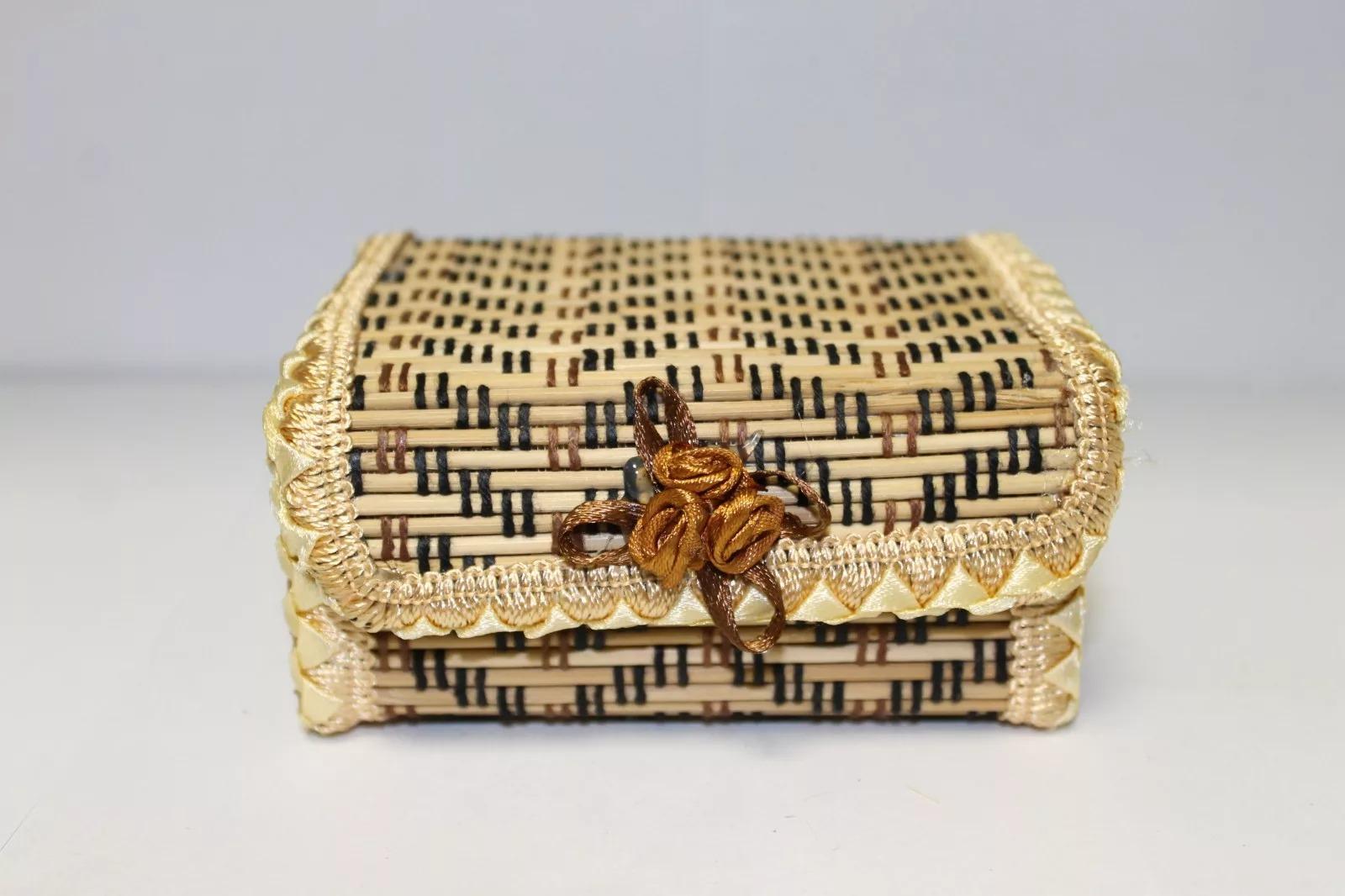 handgemaakte bamboe vak foto