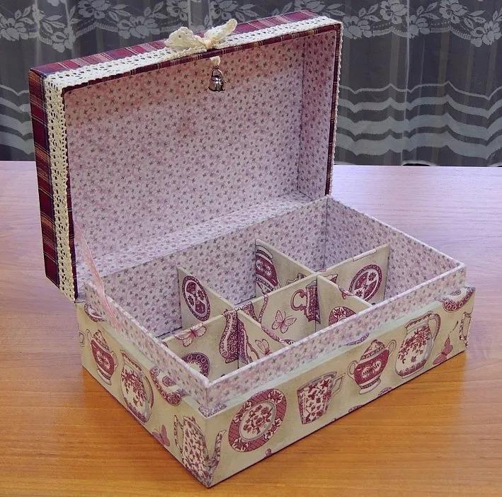 handgemaakte kartonnen doos