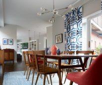 rideaux avec textiles à motifs photo