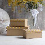 décoration élégante de boîtes