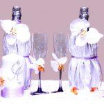 bouteilles de mariage