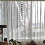 tulle pour idées de design de fenêtres panoramiques