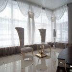 tulle pour fenêtres panoramiques photo intérieure