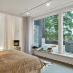 tulle pour la décoration des fenêtres panoramiques