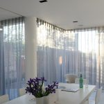 tulle sur les fenêtres panoramiques photo intérieure