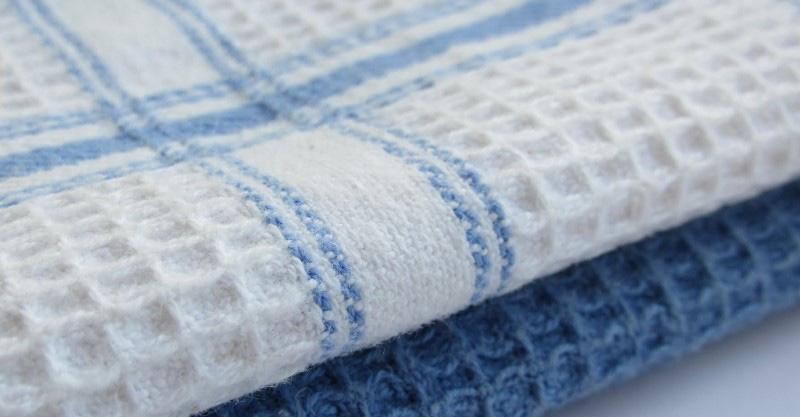 serviettes de cuisine gaufres