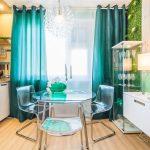 rideaux à oeillets turquoise