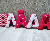 lettres oreiller photo