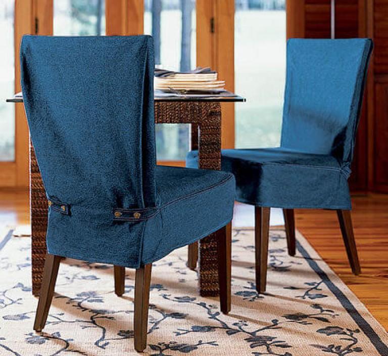 housses de chaise avec dossier pour la cuisine
