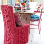 housses de chaise tricotées