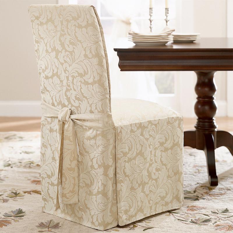 housses de chaise avec idées de design de dossier