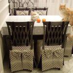 couvre-chaises avec dossier