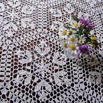 nappe au crochet fleurs sauvages