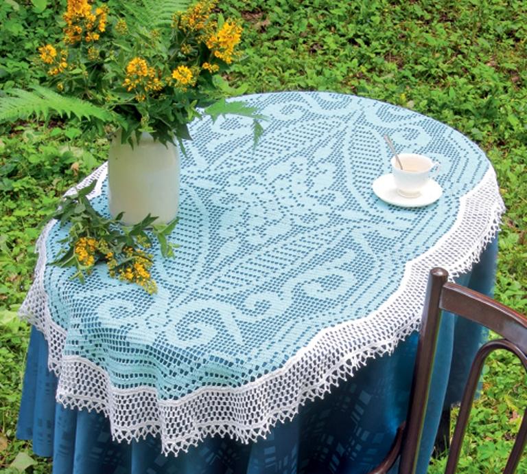 nappe bleue au crochet