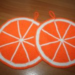 gobelets oranges en crochet