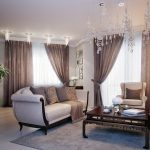 rideaux sur le ruban de rideau brun