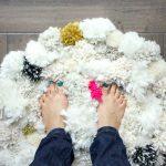tapis pompon pour la maison