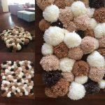 tapis en pompons design photo