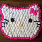 bonjour kitty pompon mat
