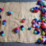 tapis d'idées de pompons