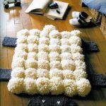 tapis de pompons décor