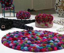 kleed gemaakt van pompons doe het zelf fotoontwerp