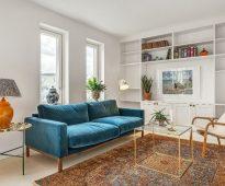 tapijten in de fotodecoratie van het interieur