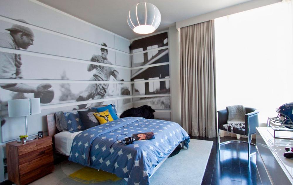beaux rideaux dans la chambre teen boy