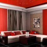 rideaux sur le ruban de rideau rouge noir