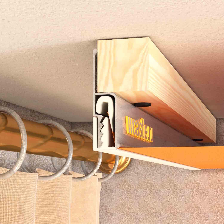 niche pour rideaux dans le plafond tendu