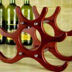 revue de photo de porte-bouteille de vin