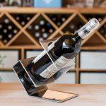 options de photo de support de bouteille de vin