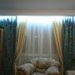 photo de rideaux de contre-jour