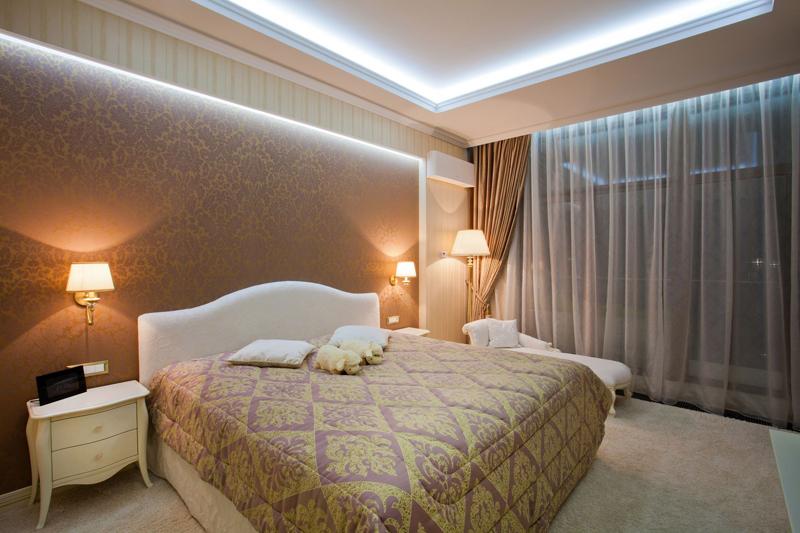 idées de conception d'éclairage de rideau