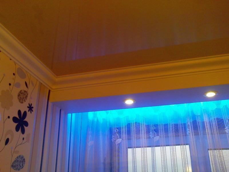 éclairage de rideau intérieur