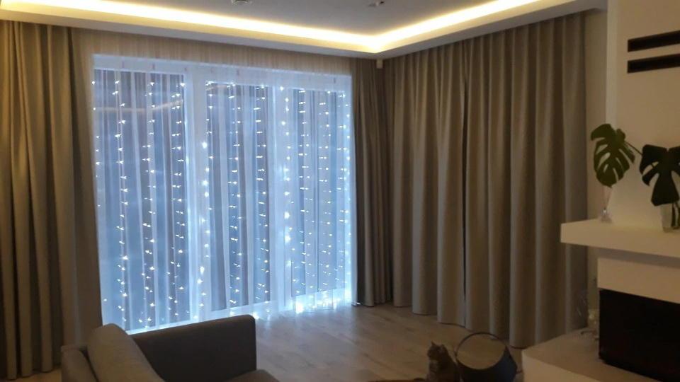 rideaux d'éclairage photo intérieure