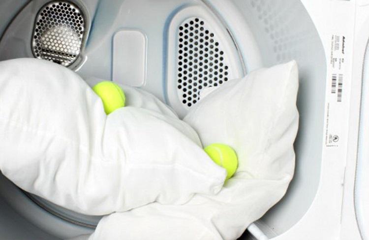 het wassen van holofiber kussens