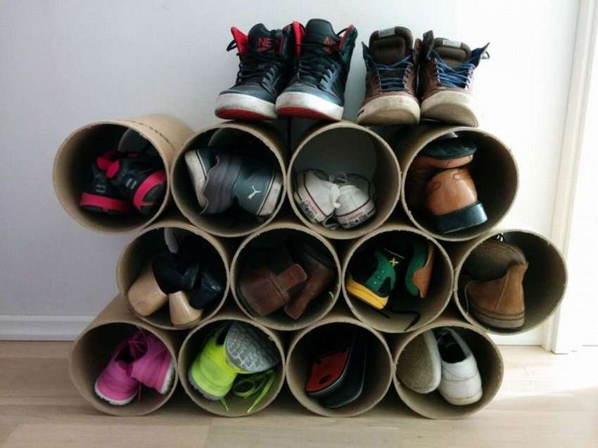 porte-chaussures idées de tubes
