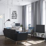 idées de plafond suspendu et rideaux