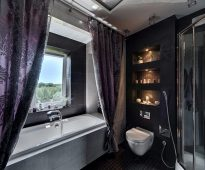 rideaux de salle de bain en textile