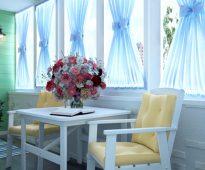 rideaux sur le balcon idées de photo